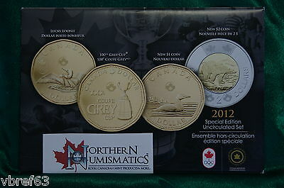 2012 Canada Prooflike PL special edition set w new design loonies and toonie