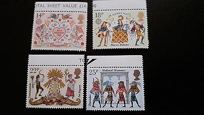 British Stamps 1981 Folklore 4 Stamps MNH.