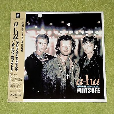 A-HA Headlines And Deadlines - RARE 1991 JAPAN LASERDISC + OBI (WPLP-9072)