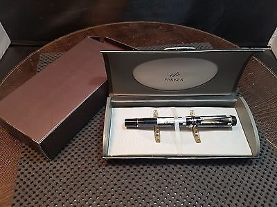 Parker Duofold Blue Mosaic Rollerball Pen Boxed