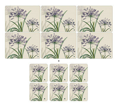 Pimpernel RHS Agapanthus Placemats & Coasters - Set of 6