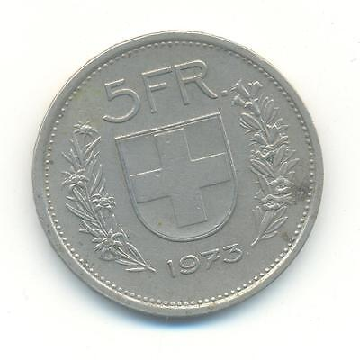 Very Nice Rare.switzerland 5.francs.1973.very Collectable.z.40