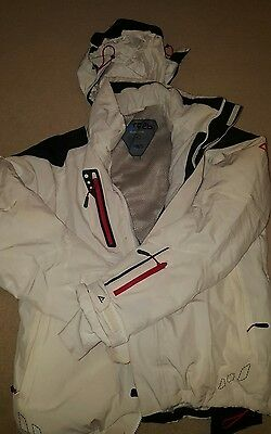 mens white ski jacket and trousers Dare 2 be