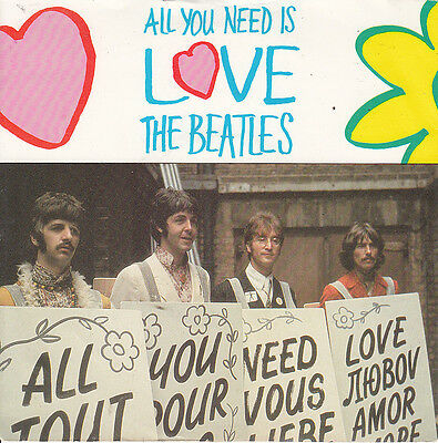 Beatles 1987 Ps *all You Need Is Love* Parlophone