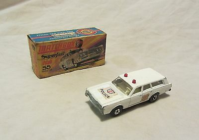 Matchbox Superfast No55 Mercury Police Estate Car in quite good condition.