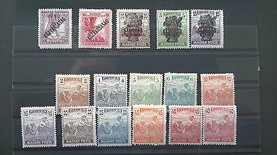 Hungarian stamps period 1900 -1919 - clean stamps lightly hinged
