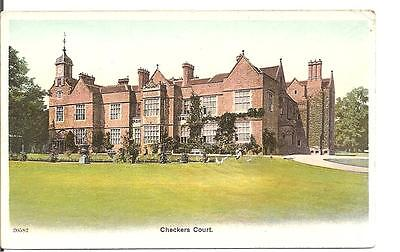 Lovely Vintage Postcard,checkers Court,buckinghamshire