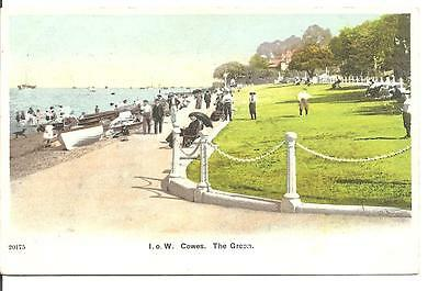 Lovely Vintage Postcard,the Green,cowes,isle Of Wight