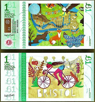 England / Bristol : £1 Local Regional Banknote from the latest series. UNC.