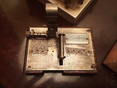 "Vintage Ensign 9.5mm ""Popular"" Film Splicer Wooden Base"