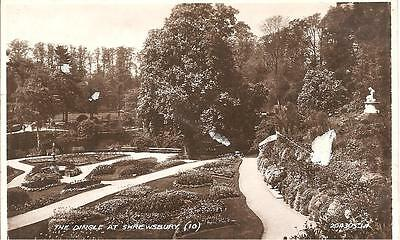Vintage Postcard,the Dingle At Shrewsbury,rp,1938