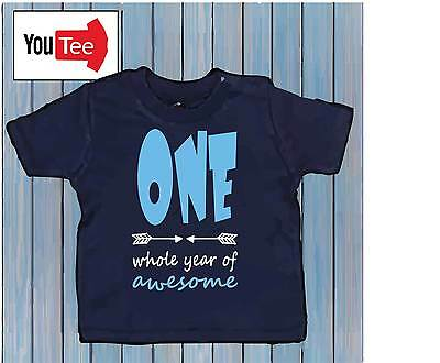 One whole year of Awesome Baby children Tshirt t-shirt first birthday gift