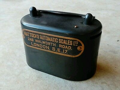 Vintage Mattocks Automatic Scales Metal Money Box by Taylor Law