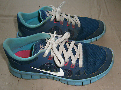 Girls Nike Shoes Size 4.5Y Blue/Aqua/Pink/White