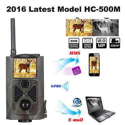 New Trail Hunting 12MP Camera SunTek HC-500M GSM GPRS SMS Wildlife infrared#B4