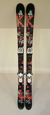 K2 Juvy kids twin tip skis 139cm with Marker Fastrack2 7.0 bindings + poles