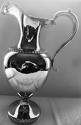 "Large Whiting (J E Caldwell) Sterling Silver Ewer 14.5"" High 6 pints 1907 # 2328"