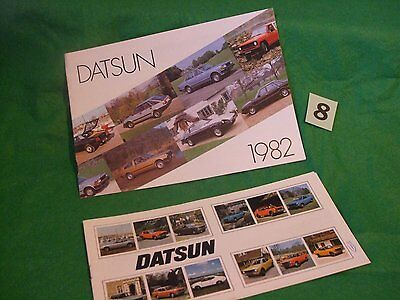 DATSUN RANGE  Brochures x 2.Includes  Datsun 260Z and 280ZX