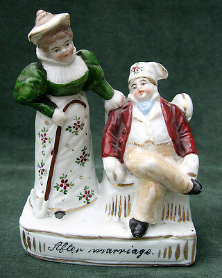 Antique China Fairing Ornament - 'After Marriage'
