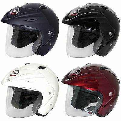Core Jet Open Face DOT Motorcycle 3/4 Helmet w/ Face Shield and Visor