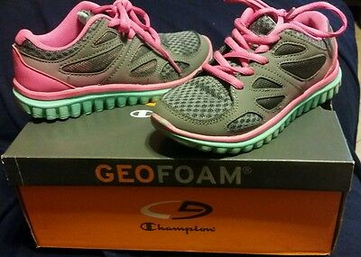 Kids Champion GeoFoam Girls semi new Running Training shoes Size 13
