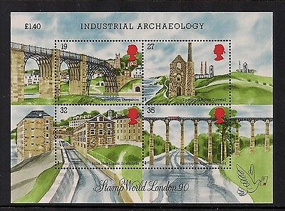 1989 Gb Qeii Industrial Archaeology Commemorative Miniature Stamp Sheet Ms1444