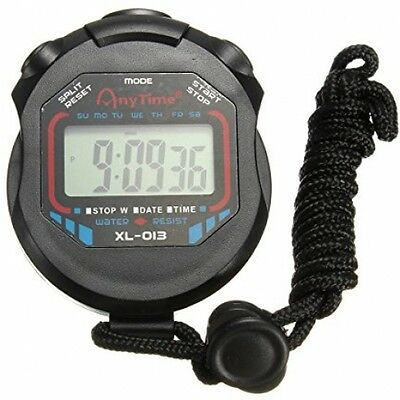 OUTERDO Digital Sports Stopwatch Handheld LCD Chronograph Timer Counter Stop