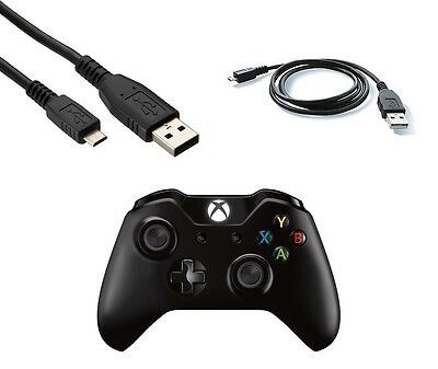 2m Micro USB Charger Cable for Xbox One Wireless Controller Play & Charge Black