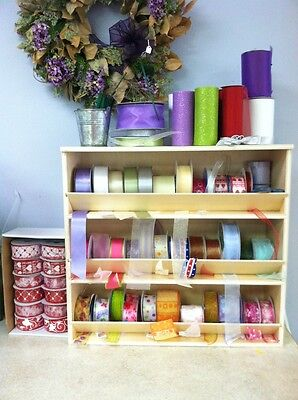 Ribbon / Label Storage Rack Organizer Holder Stand Display Florist Large Spools