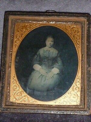 Ethereal Antique Victorian Ambrotype/Daguerrotype of Young Woman