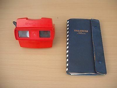 Vintage gaf viewmaster View-master album and 22 reels TV films and places