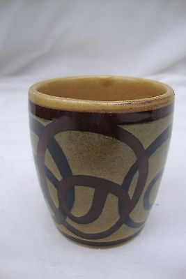 1960/70's vintage egg cup/posy vase celtic inspired design by Brixham pottery