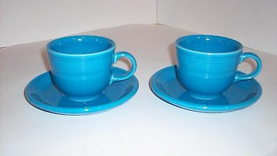 Fiesta Ware 2 Sets of Cup & Saucer in Blue