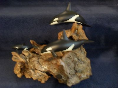 Hand Made Orca Killer Whale Sculpture By John Perry Ornament