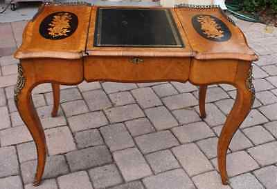 Superb French Antique Ladies Victorian Walnut Writing Desk Marquetry