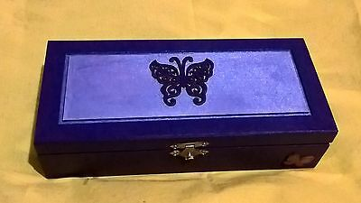 Long Purple Butterfly Box (£5 sale - limited time!)
