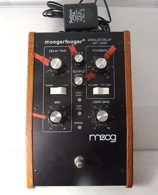 MOOG MF-104z ANALOG DELAY EFFECTS PEDAL w/ADAPTER MOOGERFOOGER 104-z