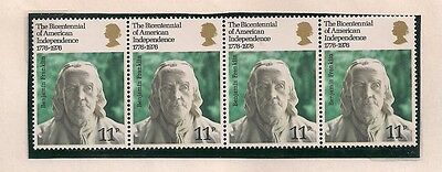 1976 Gb Qeii 4 Bicentenary Of American Independence Commemorative Stamps Sg 1005