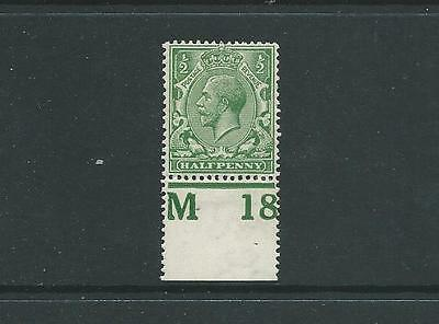 ROYAL CYPHER 1/2d GREEN CONTROL M18 PERF MARGIN FINE MOUNTED MINT
