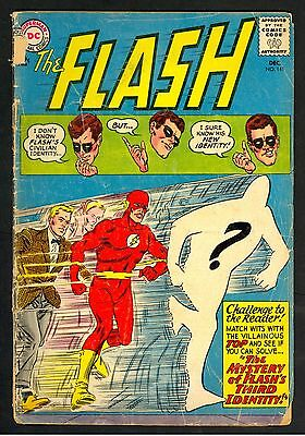 """The Flash #380 Silver Age(DC comic 1963) 1.8 GD- """"Flash's Third Identity!"""""""