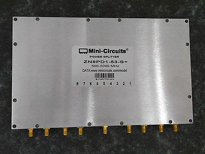 Power Splitter, Mini-Circuits ZN8PD1-53+, 8 Way-0° 50Ω 500 to 5000 MHz