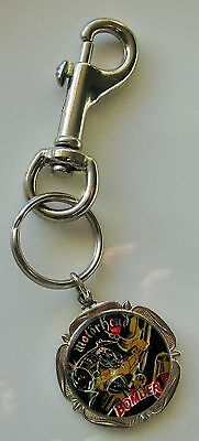 MOTORHEAD BOMBER OLD METAL KEYRING / FOB FROM THE 1980's LEMMY RETRO VINTAGE