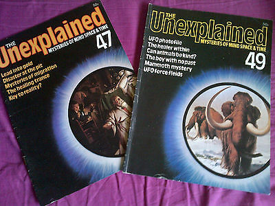The Unexplained - Mysteries of mind, space & time. Issues 47 & 49.
