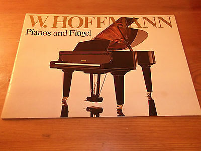 Brochure. W. Hoffmann Grand & Upright Pianos. 1970's. 28 Pages. Free UK P&P.