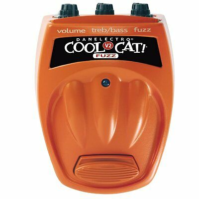 """Danelectro - Cool Cat FUZZ V2 - """"Liquid to Edgy"""" Guitar effect pedal - NEW BOXED"""
