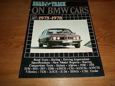 Book. Road & Track on BMW Cars 1975-78 Brooklands Ft Road Tests 7-Series Alpina