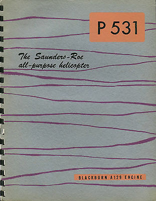 Saunders Roe P.531 Helicopter Manufacturers Sales Brochure 1959