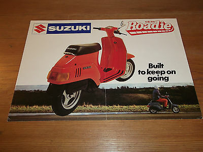 Motorcycle Brochure. Suzuki. CS 50 Roadie. Moped. 1981. Free UK P&P.