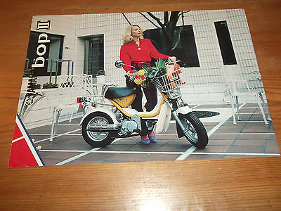 Motorcycle Brochure. Yamaha. Bop II. Moped. 1981. Free UK P&P.