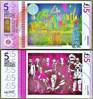 England / Bristol : £5 Local Regional Banknote from the latest series. UNC.